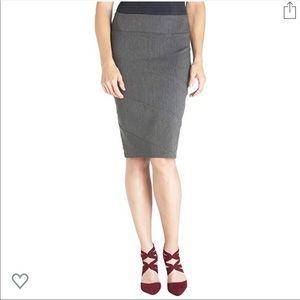NWOT Briggs Grey Pencil Skirt